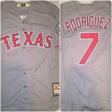 Retro Ivan 'Pudge' Rodriguez Texas Rangers Grey #7 Replica XL Baseball Jersey