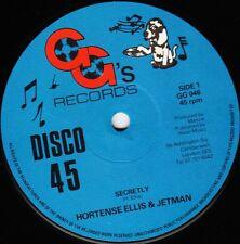 """HORTENSE ELLIS & JETMAN - SECRETLY  UK  G.G's  GG 046, 12""""  '79"""