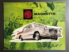 1959 MG Magnette Sedan Showroom Advertising Sales Folder Brochure RARE!! Awesome