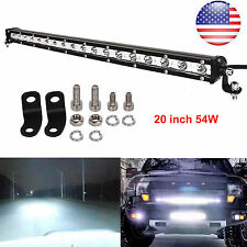 SLIM 20INCH 54W CREE LED WORK LIGHT BAR SINGLE ROW DRIVING LAMP UTE ATV SUV JEEP