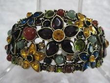 "HEIDI DAUS ""Fantasy In Florals"" (Carnelian) Size Lg. Bracelet (Orig.$139.95)"