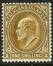 Falkland Islannds 1904 brown 1/- mint SG48