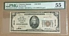 1929 CHANUTE Kansas $20 Ty. 1  PMG AU55  The First NB  Ch #3819   Low Serial  #