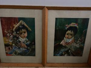 Retro Jean Calogero Mexican Prints x 2