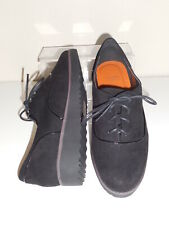Flat Black Faux Suede Lace Up  Shoes Size 8 Wide (EEE) BNWT-Evans RRP £36