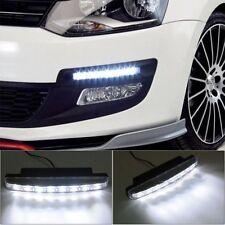 2 Pcs 12V Lamp Bar Spot Light 8 LED Work Lights Car Daytime Running Light