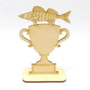 Pokal Wettbewerb Fisch Zander Personalisiert Logo Angler Angeln fischen Stippen