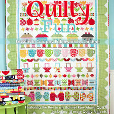 QUILTY FUN Lessons in Scrappy Bee In My Bonnet Row Along Quilt NEW Lori Holt