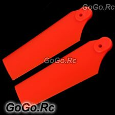 550 Tail Rotor Blade For Trex T-rex Helicopter Fluorescent Orange (RH55035-02)