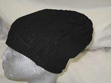 BNWT - FIRETRAP RIBBED SLOUCH  BEANIE HAT - BLACK