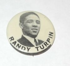 "1940's PM10 Boxing Pin/Button/Coin Randy Turpin ""The Leamington Licker"""