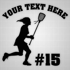 Lacrosse Wall Decal Girl Lax personalized Girl room wall stickers lacrosse team
