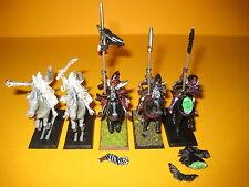 Dunkelelfen - Dark Elves - 5x metal Dark Riders - Schwarze Reiter aus Metall