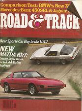 Road & Track May 1978 - Mazda RX 7 - BMW 733i - Subaru DL - Jaguar XJ12L