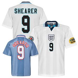 1996 England Home or Away Retro Football Shirt - Euro 96 SHEARER 9
