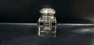 Vintage Woodside Sterling Silver Capped & Glass Inkwell