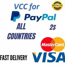Vcc for paypal virtual credit card 2$ balance verification works worldwid exp 25