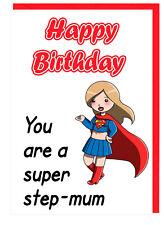 Cartolina di Compleanno per passo MAMMA-TANTI AUGURI sei un super Step-MAMMA