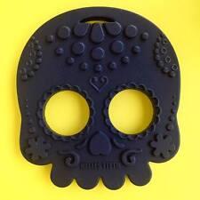 Helles Teeth Black sugar skull teething toy alternative goth punk rock metal