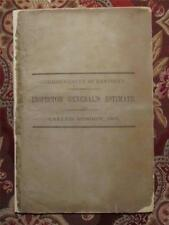 KENTUCKY ESTIMATE OF CIVIL WAR COST YEAR OF 1861 - 1861 - FIRST EDITION-OFFICIAL