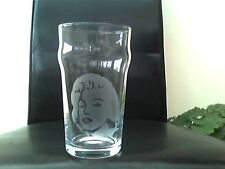 Marilyn Monroe Etched Engraved Pint  Beer Glass