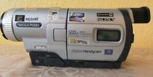 Vintage Sony Handy cam DCR TRV730E Video 8 Hi8 Video Camera recorder 500x Digita
