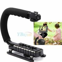 Video Stabilizer Camera DSLR Handle Grip Rig For iPhone Nikon Canon Camcorder