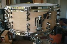 Hand Crafted 6x14 Snare 1-ply solid steam bent shell with hardwood re-rings