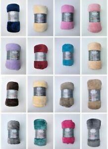 STUDIO COTTON Soft Flannel Mink Throw Fleece Blanket