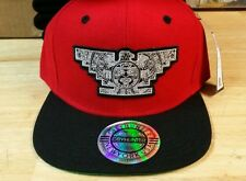 AZTEC CUSTOM BIRD MEN SNAPBACK HAT RED BLACK