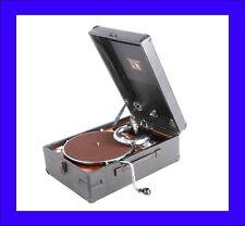"Antique ""His Master's Voice"" Suitcase Phonograph. Model 102. France, 1930"