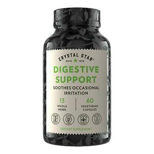 Crystal Star, Digestive Support, 60 Vegetarian Capsules