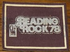 READING 1978 THE JAM QUO SHAM PATTI ULTRAVOX WOVEN COLTH SEWING SEW ON PATCH
