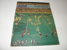 Nove 14 1971 NFL Pro Dallas Morning News Insert Magazine TV Lineup 20 Pages VG+
