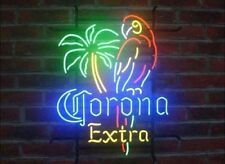 "New Corona Extra Parrot Bird Left Palm Tree Neon Light Sign 20""x16"" Beer Glass"