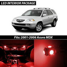 2001-2006 Acura MDX Red Interior LED Lights Package Kit