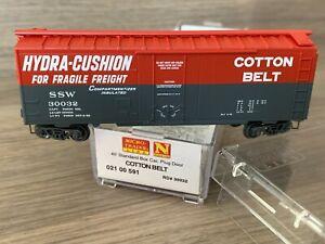 N Scale Micro-Trains Hydra-Cushion Cotton Belt SSW 30032 40' STD Boxcar