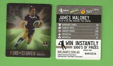 #D535. NRL 2011 RUGBY LEAGUE TAZO #58  JAMES MALONEY, NEW ZEALAND WARRIORS