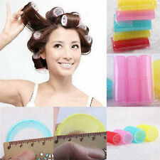 6Pcs Big Self Grip Hair Rollers Cling Any Size DIY Hair Curlers Make Up