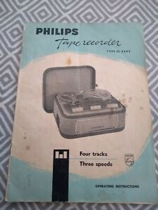 Philips EL 3542 Tape Recorder Operating instructions Manual