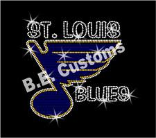 "Rhinestone Transfer ""St. Louis Blues"" Hotfix , Iron On,"