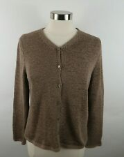 Pendleton Womens Knit Polyester Blend LS Button Down Taupe Cardigan Sweater PM