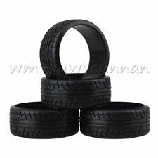 RC 1:10 Plastic Drift Wheel Tires Black for On-road Racing Model Car Part