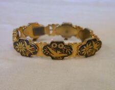 Black & Gold Damascene Bird Bracelet