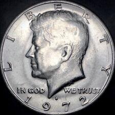 1972-D Kennedy Half Dollar DDO-Like Strike Doubling & Weak FG Errors 50C