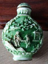 antique cinnabar snuff bottle tabatière chinoise en cinabre Qianlong mark