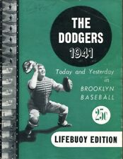 1941 Brooklyn Dodgers 1st Yearbook Lifebuoy Edition Rare VG/EX 35925