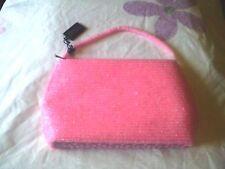 Bijoux Terner Pink Beaded Satin Evening Bag/Purse NIP New with Tags