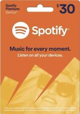 Official Spotify Gift Card 3 Months USA Subscription (FREE @) WORKS Worldwide 30