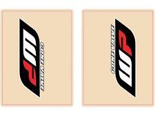 Flu Designs WP Cone Valve Red Black Upper Fork Decals 01018